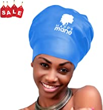 Happy Mane Large Extra Large XL Silicone Swim Cap for Braids and Dreadlocks - Dry Hair While Swimming and Bathing Long Hair, Extensions, and Curly Hair - Shower Cap for Women, Men, Kids