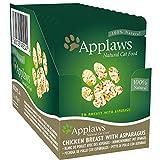 Applaws, Bolsa de pollo y espárragos para gatos,12 x 70 g