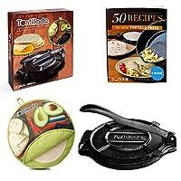 Tortillada – プレミアム鋳鉄トルティーヤプレス レシピ電子ブック(10インチ)+トルティーヤウォーマー
