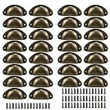 Qixuer 30 Pcs Tiradores de Metal Vintage Manillas,Pomos Vintage Puerta Manijas para Puertas de Muebles Tiradores para Cajones Retro Perilla del Gabinete para Armario Cajón Muebles