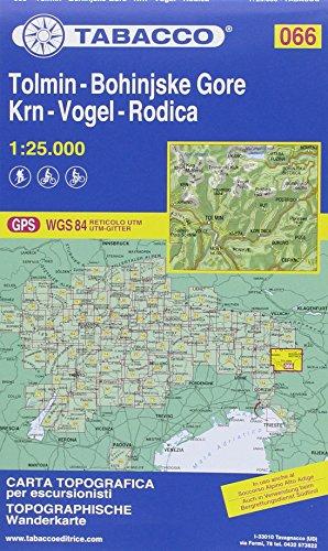 Tabacco Tolmin-Bohinjske Gore-Krn-Vogel-Rodica 1 : 25 000