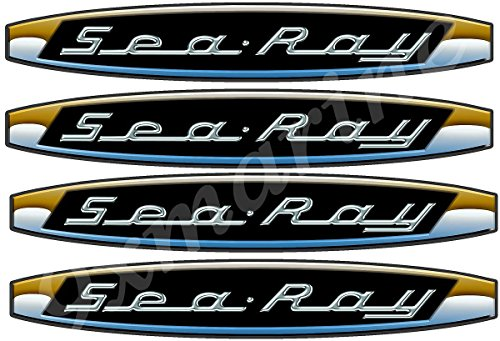 Sea Ray Boat Vintage Decals/Stickers. Remastered for Boat Restoration Project