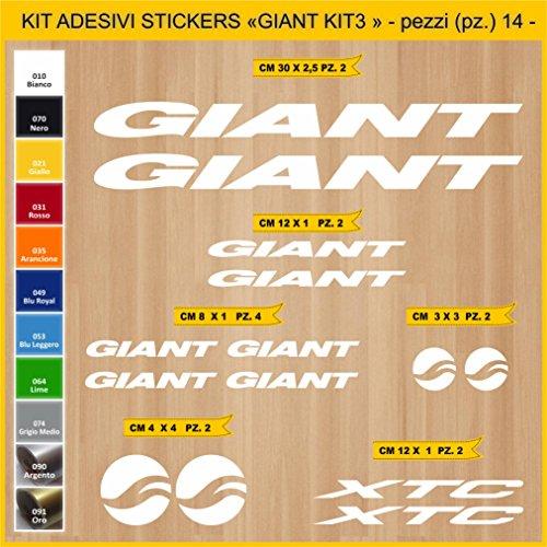 Adesivi Bici Giant XTC_Kit 3_ Kit Adesivi Stickers 14 Pezzi -Scegli SUBITO Colore- Bike Cycle pegatina cod.0859 (010 Bianco)