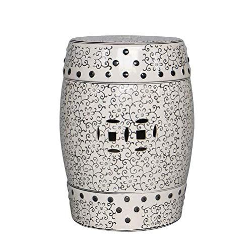 LQJYXD Schoenenkruk Ceramic Hollow Carving Petal Kruk Antieke kruk Hocker Hoge-temperatuur glazuur veranderen Dressing Kruk Inrichtingsvoorwerpen