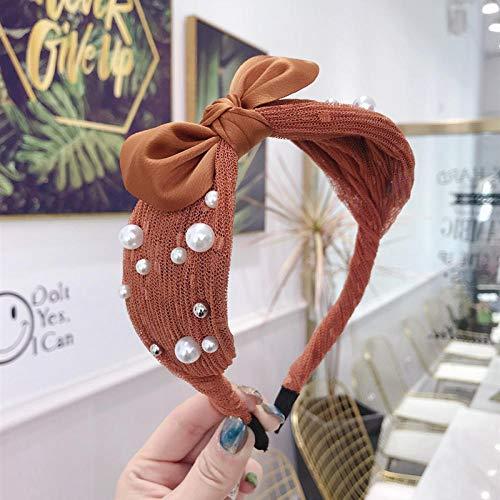 Weier. Ben Nieuwe haarband eenvoudige gestreepte kruis stretch breedgerande haarband haarband krullen vrouw