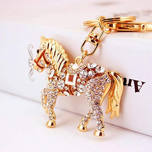 Ou lida Zodiaco Chino Lindo Diamante Pony Forma Llavero...