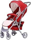 SYue Cochecito de bebé, Carro de bebé Cochecito de bebé recién Nacido Portátil Un botón Plegable Ultraligero Puede Sentarse Reclinable Amortiguador Viaje