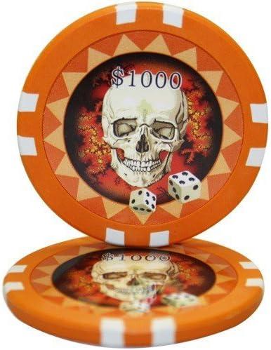 MRC 50 $1000 Skull Casino Clay Chips Composite Poker 13.5 Gram Omaha Mall OFFicial mail order