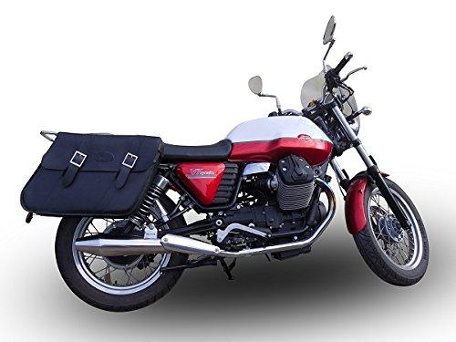Gpr Italia Gu.53.Vic par terminales omologati y catalizzati con empalme coche moto Guzzi V7–Stone–Special 2012/16vintacone