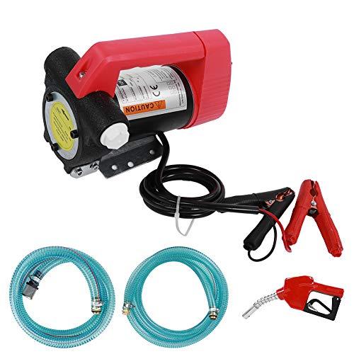 12V Dieselpumpe, 40 L/min Elektrische Ölabsaugpumpe Kraftstoffpumpen Absaugpumpe mit Einlassschlauch und Auslassschlauch, Sprühpistole für Diesel, Motoröl und Transformatoröl