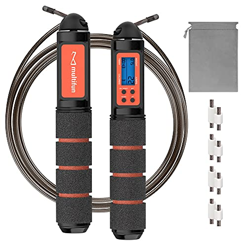 Jump Rope, Multifun Speed Skipping Rope with Calorie Counter,...