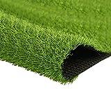Quesuc La Alfombra de Césped Artificial Premium Para Balcones y Terrazas | Césped Artificial Rollo Exteriores es Permeable al Agua con Protección UV, 20 mm de Altura (100x100 cm)