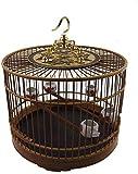 GJNVBDZSF Jaula de pájaros Material de bambú destacado Jaula de pájaros con Gancho Villa de pájaros para Interiores y Exteriores Estilo Chino Jaula de pájaros Vintage Casa de pájaros a Granel