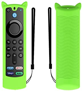 Fit Designed for 2021 Fire TV Stick 4K Alexa Voice Remote Control (3rd Gen), Suublg Silicone Remote Case Protective Covers...