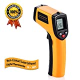 Digital Infrared Thermometer, Non-Contact Laser IR Temperature Gun Instant-read with 2 AAA...