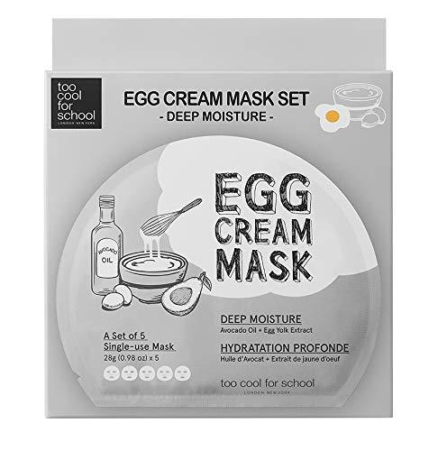 Too Cool for School - Egg Cream Mask Set - Deep Moisture (5 sheets)