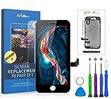 flylinktech display lcd touch screen schermo per iphone 7 nero vetro digitizer parti di ricambio kit smontaggio trasformazione completo di ricambio - utensili inclusi