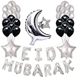 Kbsin212 Globos Eid Mubarak Eid Globos Mubarak Látex Globos Ramadán Globos FestivalParty Decoración Set Mubarak Accesorios Festival Decoración Accesorios para Hogar Fiesta Decoración