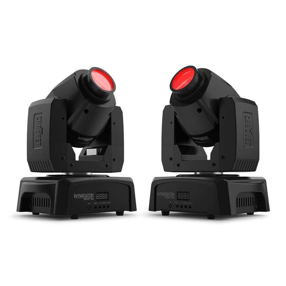 2x Chauvet Intimidator Spot 110 10W LED Moving Head Effect Light DJ Disco
