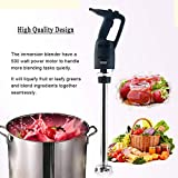 GZZT Commercial Electric Big Stix Immersion Blender Hand held variable speed Mixer 500 Watt with 20-Inch Removable Shaft, 50-Gallon capacity