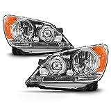 ACANII - For 2008-2010 Honda Odyssey Headlights Chrome Housing Headlamps Replacement Driver & Passenger Side
