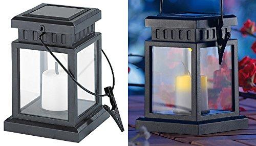 Lunartec Solar Grablicht: Solar-LED-Laterne in asiatischem Design zum Aufhängen, mit Akku (Asia Laterne)