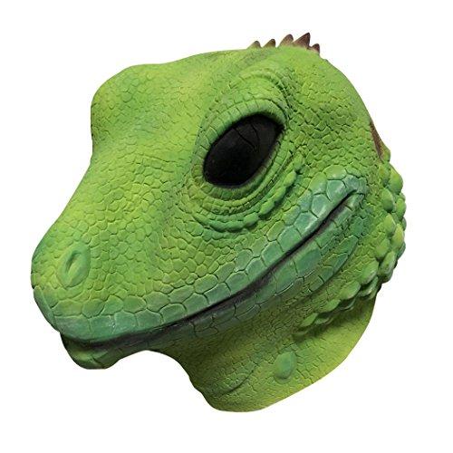 FunPa masker van latex, kunstmatige lagart, Halloween-kop