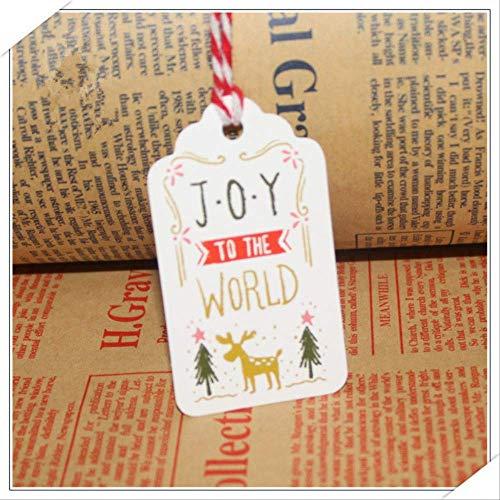 Wenskaarten BLTLYX 50 stks/set Kerst Hangende Kaarten Kind Vakantie Geschenken DIY Creatief Kleurenschilderij Kerstman Wenskaarten Bookmark Board 4 * 7cm Vreugde aan de Wereld