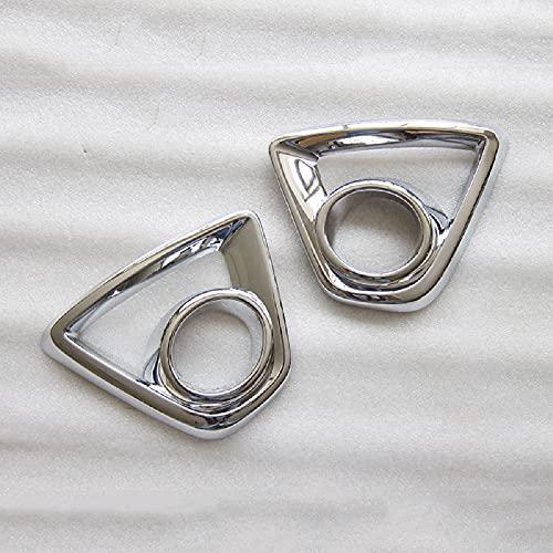 SUKLIER Abs Chrome Front Trim Lampe Rahmenkappe,Nebelscheinwerfer Blende Abdeckung ,FüR Mazda CX5 CX-5 2012-2014,Shiny Silver