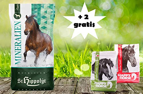 St. Hippolyt SemperMin Müsli 15 kg und wir schenken Ihrem Pferd 2 x 1 kg Happy Horse Lecker Snacks