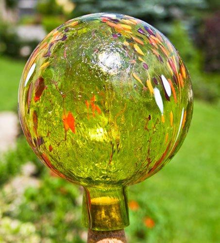 Unbekannt Gartenkugel aus Glas, Apfelgelb