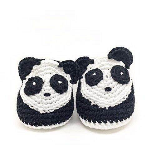 Crochet baby boy shoes (noir black