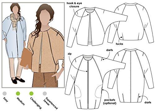 Style Arc Sewing Pattern - Alegra Jacket or Coat (Sizes 04-16)