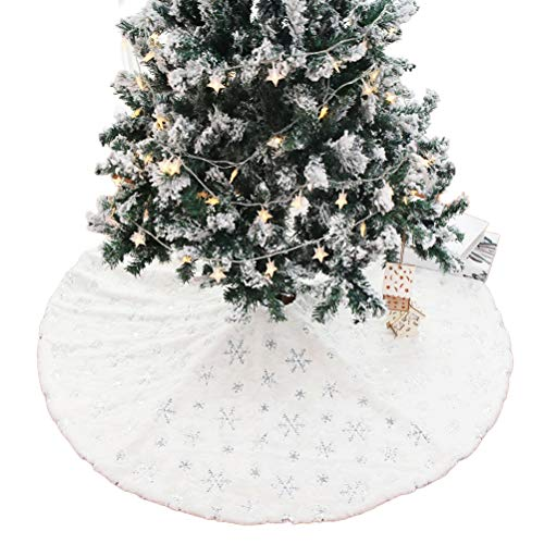 StyleBest Falda de árbol de Navidad, Falda de árbol de Lujo, árbol Grueso de Vacaciones, Adornos de Navidad, Decoraciones navideñas