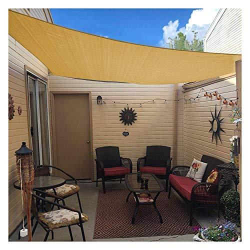 3x3m Sun Voile d'ombrage rectangulaire Canopy sable Couverture for Terrasse extérieure Cour arrière Voile d'ombrage de jardin Aire de jeux