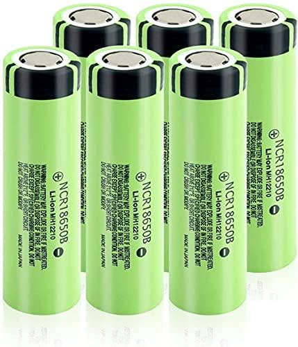 Batería Recargable Ncr18650B NCR 18650B 3400Mah 3.7V Batería 18650 Ion De Litio Li Ion-6Pcs