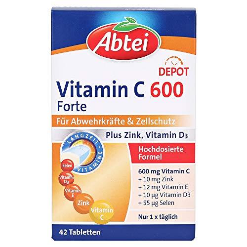 Abtei Vitamin C 600+Zink+E Depot Tabletten, 42 St