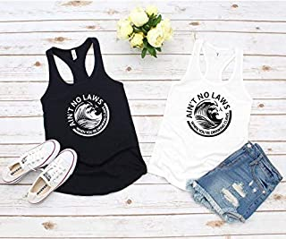 Ain't No Laws When You're Drinking Claws Day Drinking Top Summer Tank Top, Boat Tank Top