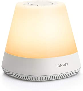 Meross Smart Baby Rest Luz nocturna, máquina de sonido para guardería, entrenador de sueño para niños, funciona con Alexa ...