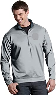 Antigua Men's Large Silver Boston Bruins Leader 1/4-Zip Pullover Jacket