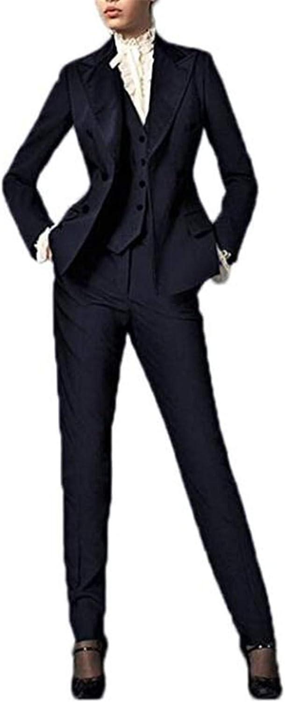 3 Pcs Women Blazer Suits Set Ladies Office Business Suits Wedding Tuxedos Party Wear Suits