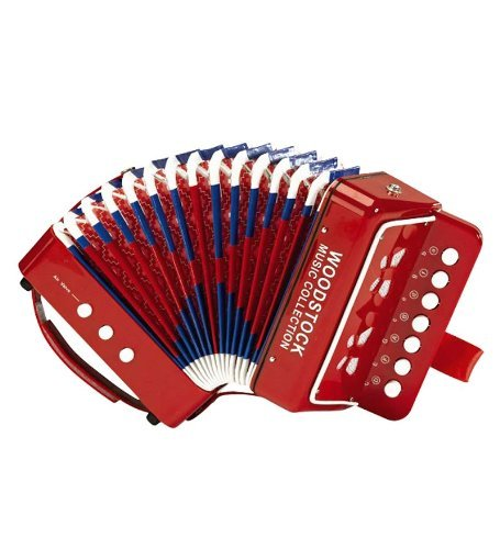 Woodstock Percussion, Inc. Child Sized Accordion with Illustrated Song Sheet