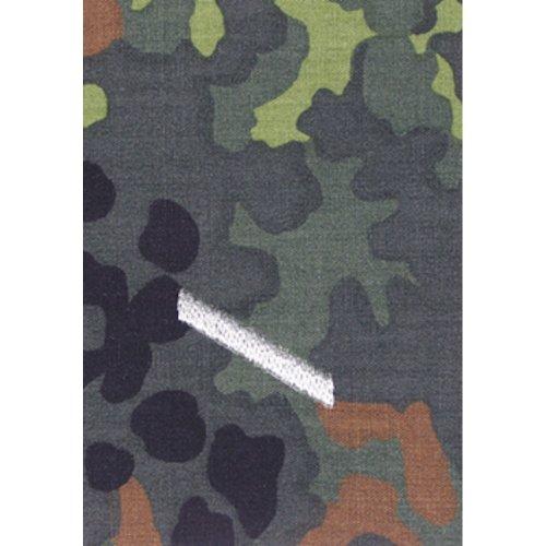 Unbekannt 1 Paar Bundeswehr Rangabzeichen Flecktarn/Silber Rangschlaufe Rangschlaufen Abzeichen Schlaufe Verschiedene Dienstgrade (Gefreiter)
