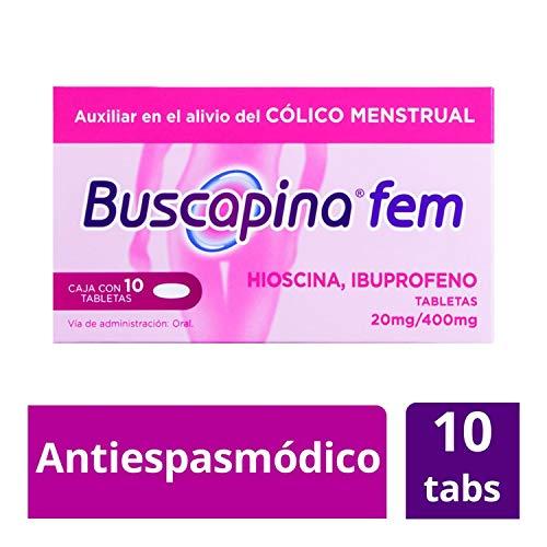 Buscapina Tabletas Fem 20/400 mg, 10 Piezas