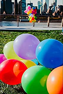 100 PCS High Quality Party Rainbow Assorted Balloons ! | 9 colors evenly distributed | 12 inches | Strong Latex, Vibrant Happy Colors for Helium, Air and Water| Kids Birthday, Party Favors, Special Occasions, Balloon Arch , Decoration Accessory, Weddings