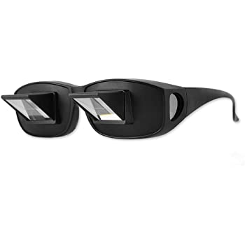 DS. DISTINCTIVE STYLE Prism Glasses Lazy Glasses Lying Down Bed Horizontal Watching TV Reading Spectacles Horizontal Glasses - Black