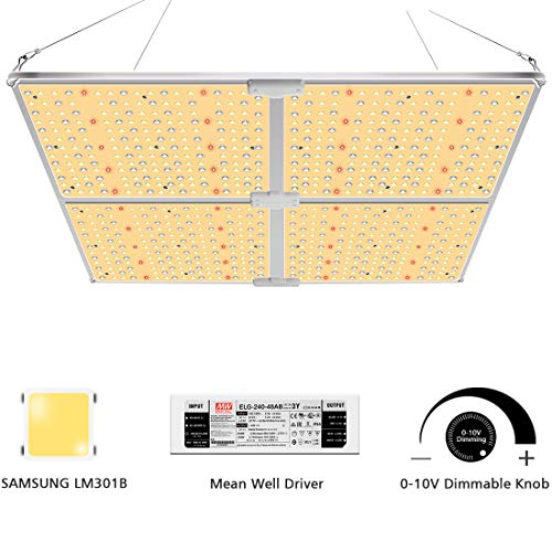 SYLSTAR LED Pflanzenlampe Vollspektrum, GL-4000 LED Pflanzenlampen mit Samsung LM301B & Dimmbar MeanWell Treiber, 450w LED Grow Light led-pflanzenlampe für Hydroponische Zimmerpflanzen, Gemüse, Blume
