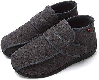 YHXF Chaussons Diabétiques Hommes Chaussures Maison Réglables Soulagement Antidérapant Chaud Et Confortable pour Les Pieds...