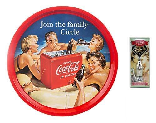 Coca Cola Officiële Cola 2-delige Cadeauset - Familievriendelijke Circle Drinks Barlade & 3D-flesvormige flesopener
