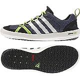 adidas Climacool Boat Lace Shoe - Men's Lead/Chlk/Semi Solr Green 10